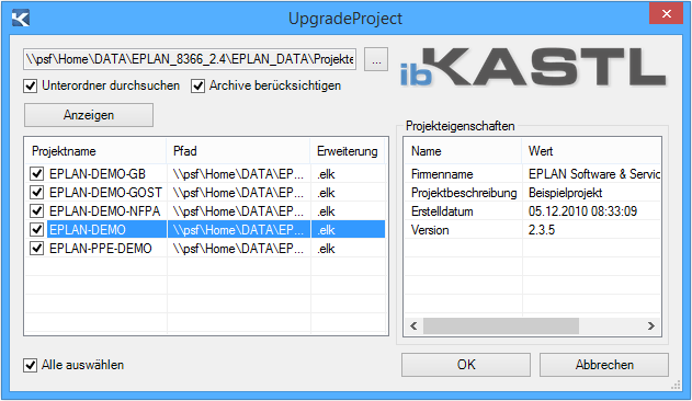 UpgradeProject-Beispiel