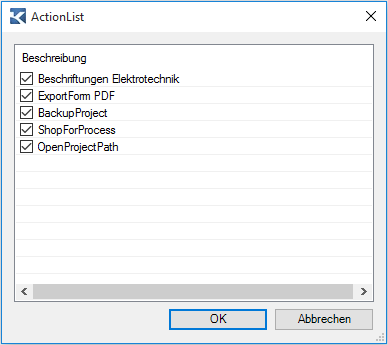 ActionList-Abfrage